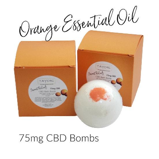 "75 mg CBD Bath Bombs with Citrus Blend | 2.5"" diameter"