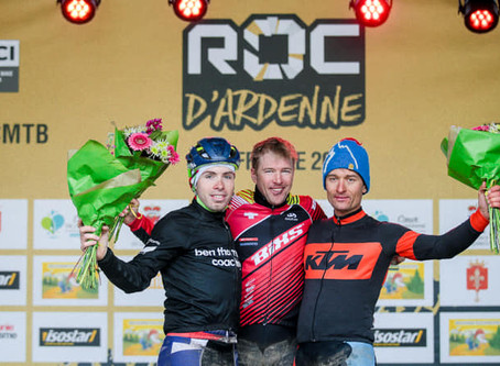 I finished second at the UCI World Marathon Roc d'Ardenne