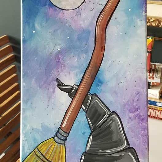 Witches Attire Long Canvas Paint Event