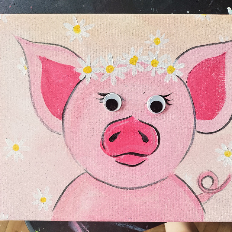 Peachy Pig Kids Paint at Columbia Kettle Works