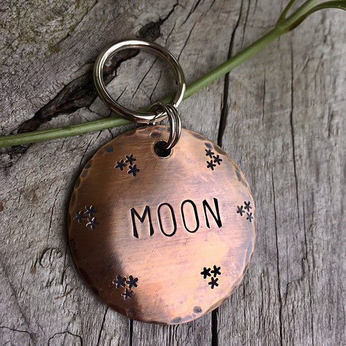 Starry Night Tag, in XL 1.5'' Weathered Bronze