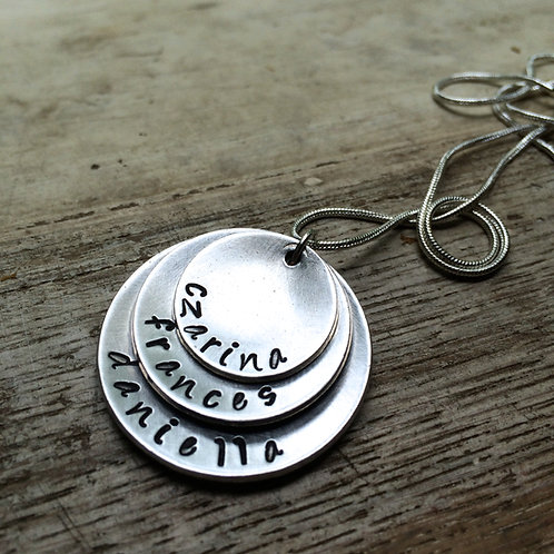 Custom Layered Family Necklace