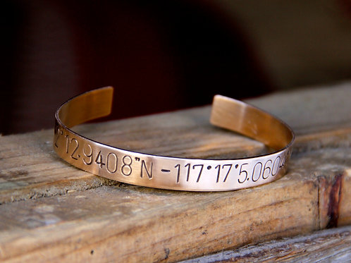Wider Custom Cuff Bracelet with Secret Message