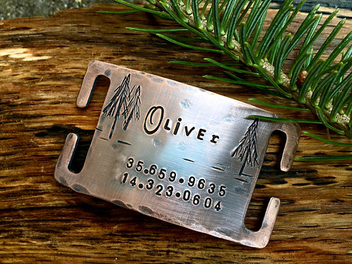 In the Forest -- Custom Quiet Slide ID Tag - LARGE