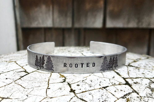 Rooted - Cuff Bracelet in Aluminum