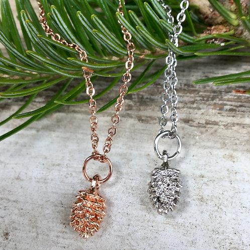 Petite Pinecone Necklace