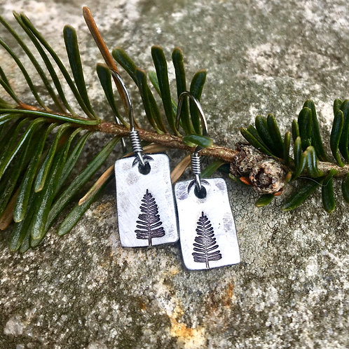Little Evergreen Earrings - Nature Lover Gift