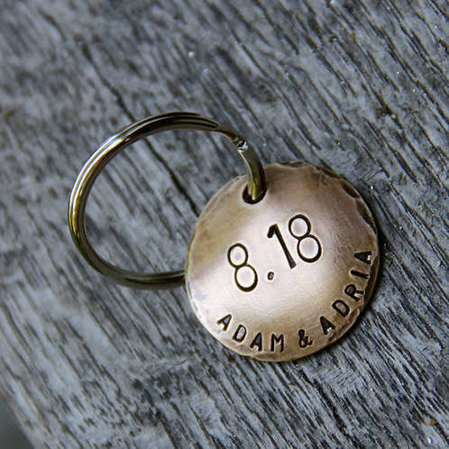 Custom Stamped Keychain - On This Day