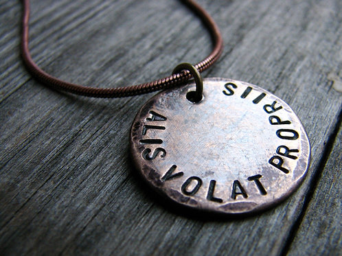 Alis Volat Propriis Necklace in Bronze