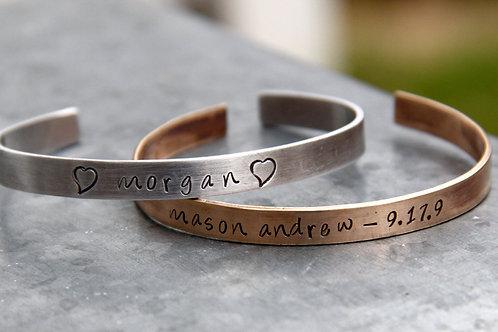 Cuff Bracelet in Bronze or Aluminum