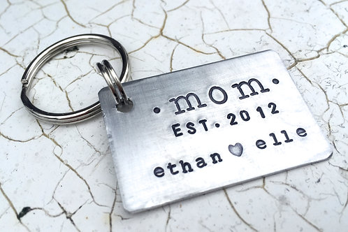 Mom Established - Keychain in Aluminum