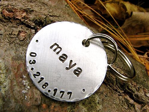 "Maya 1.25"" Tag in Aluminum"
