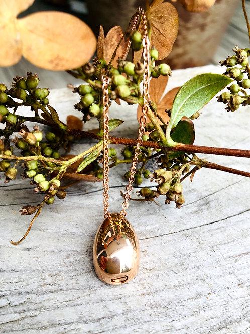 Rose Gold Teardrop Urn Necklace - Memorial Jewelry