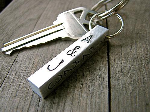Custom Initial Keychain in Aluminum