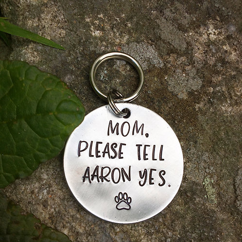 Puppy Proposal Tag