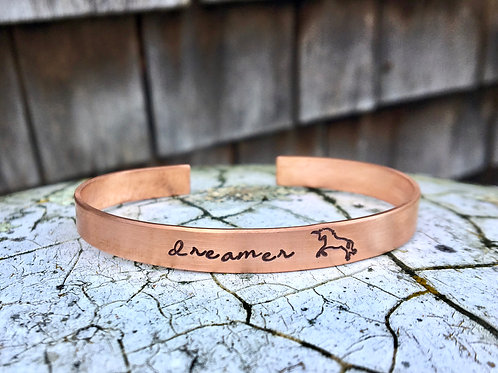 Unicorn Dreams Bracelet - Copper Stacking Cuff