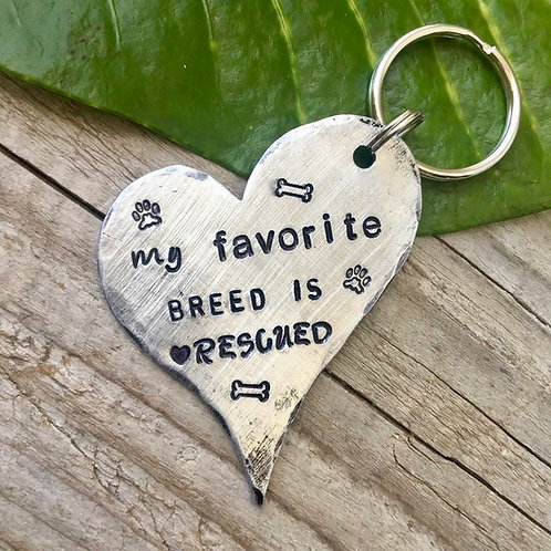 My Favorite Breed - Rescue Dog Keychain