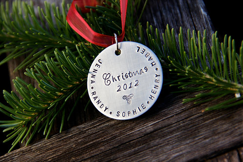 Christmas Ornament - 1.5'' Brushed Nickel