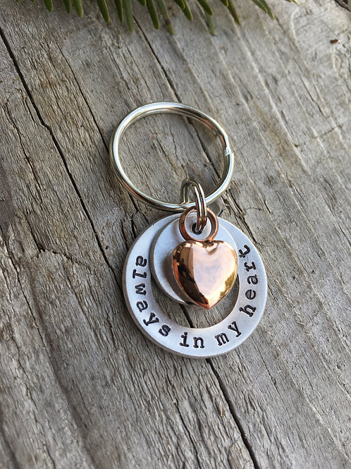 Always With Me Urn Keychain - Memorial Gift
