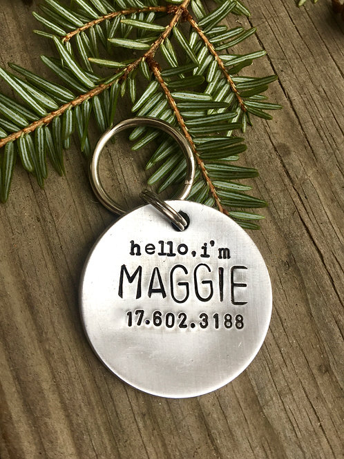 Hello, I'm... Custom Pet ID Tag