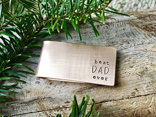 Custom Bronze Money Clip - Best Dad Ever