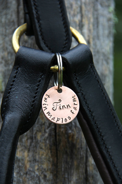 Custom Halter Tag - Bridle Tag in Copper
