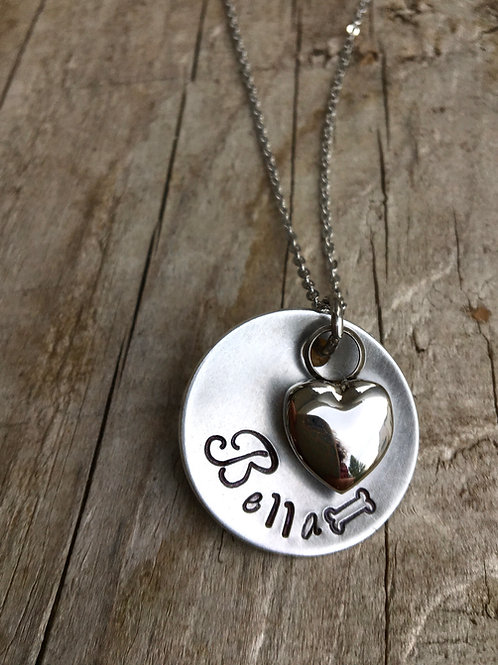 Personalized Cremation Urn Necklace - Pet Memorial