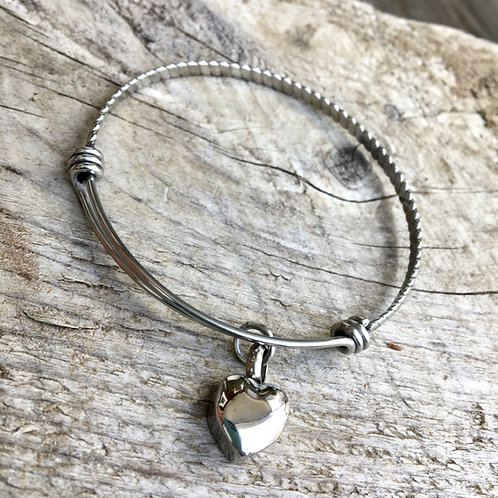In Loving Memory -- Silver Cremation Urn Bangle