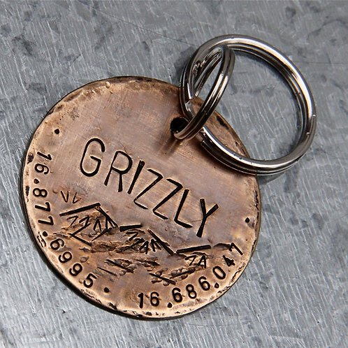 "Grizzly, in 1.25"" or 1.5'' Weathered Bronze"
