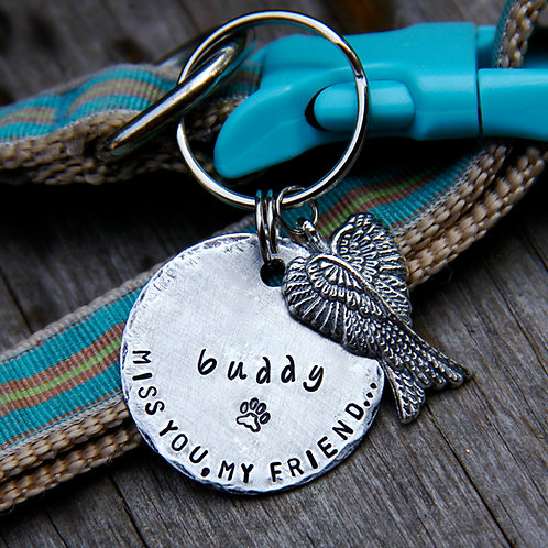 Pet Memorial ID Tag / Keychain in Nickel
