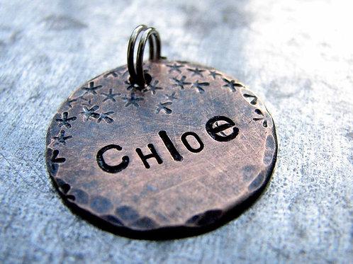 "Chloe Pet ID in 3/4"" Bronze"