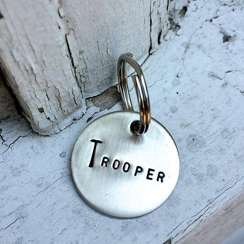 Custom Halter Tag - Bridle Tag in Nickel Silver