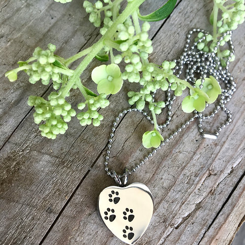 In Loving Memory -- Pet Loss Cremation Urn Necklace