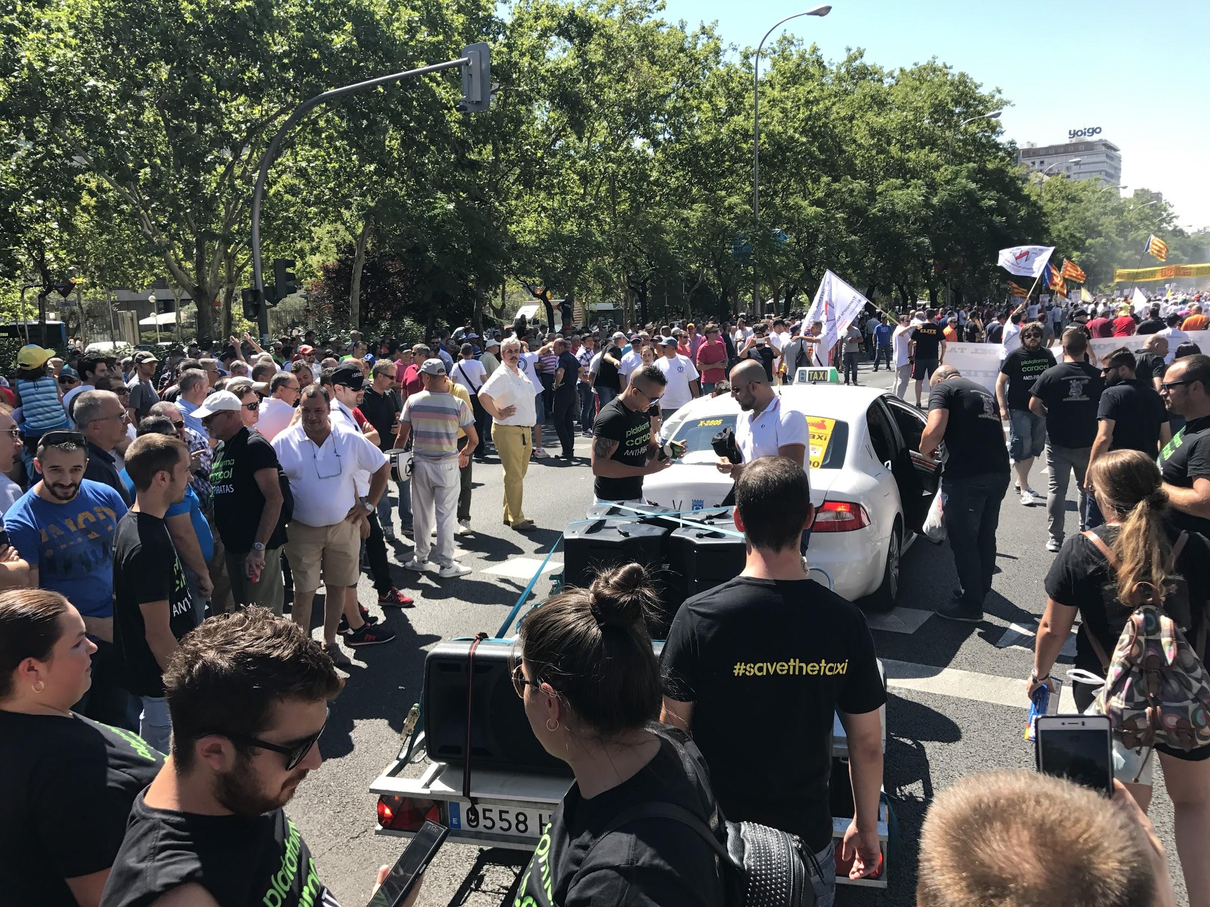 Manifestación - Taxis Madrid