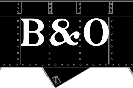 B&O AAR 3-bay offset hopper - 1950's Billboard Scheme I - TT scale RTR