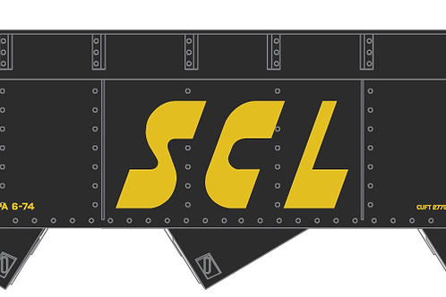 SCL - 3 Bay AAR Hopper - Yellow Lettering
