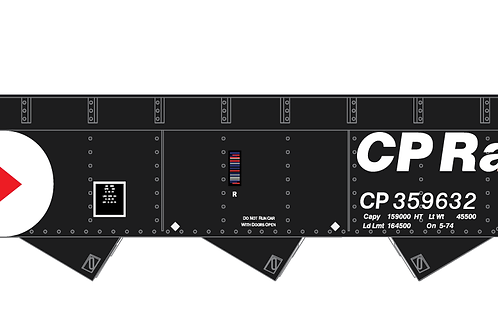 CP Rail - 3 Bay Hopper - Pac-Man