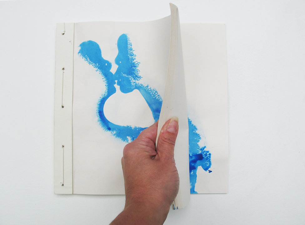 kiss couple relationship love ink blue artbook book drawing