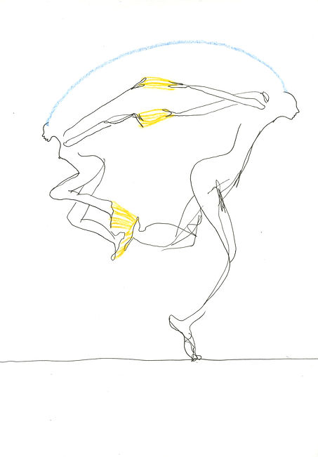 Diary line drawing emotions body woman visions paper dry pastel ink pencil autobiographical  relationships couple
