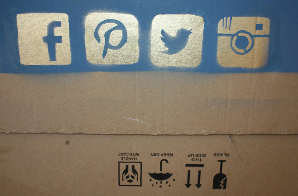 spray paint on cardboard soldier beheaded woman violence war shocking medusa internet logos social media