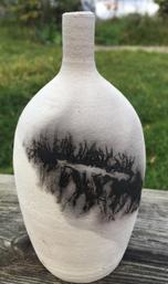 Burnt Design Vase