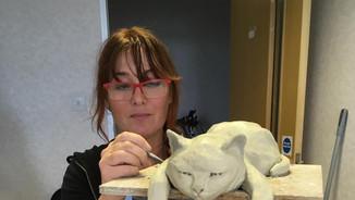 Alexia sculpting Stanley