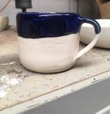 Navy and White Mug