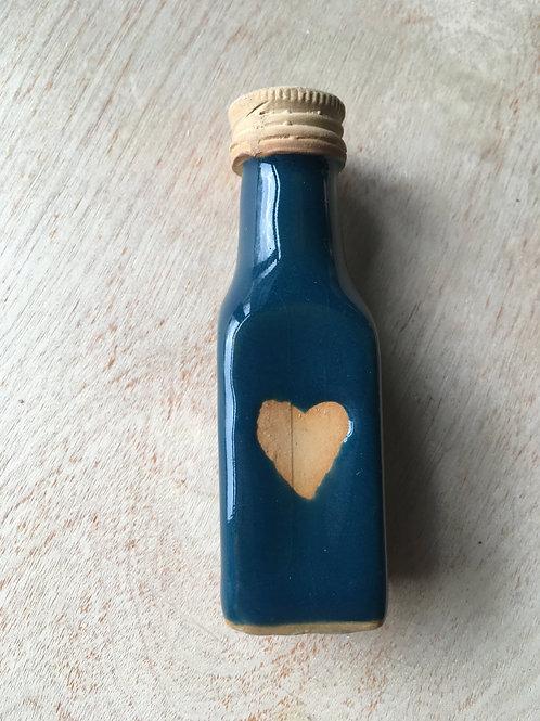 teal heart bottle light pull