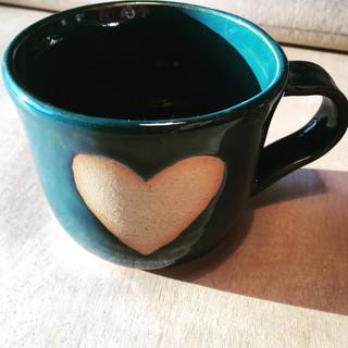 Teal Heart Mug