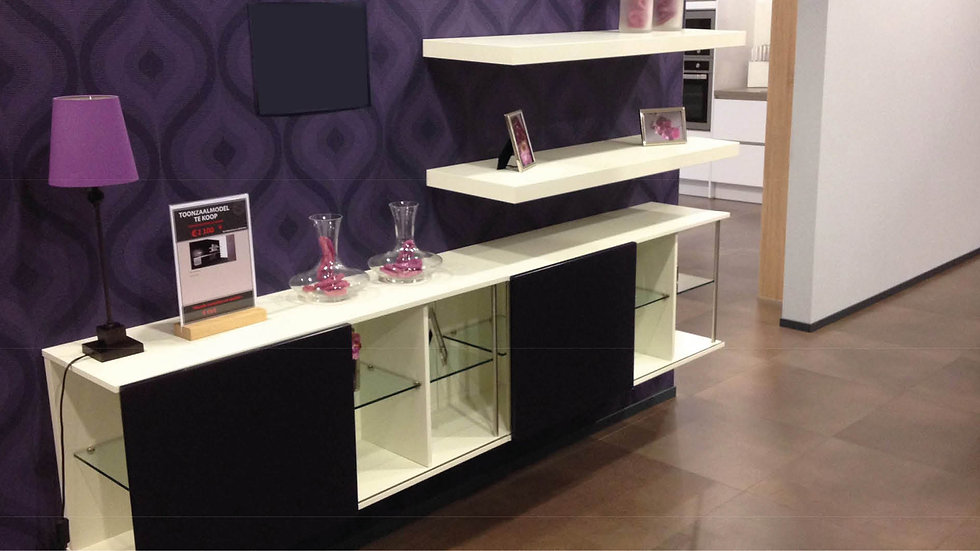 Design glas braam kast