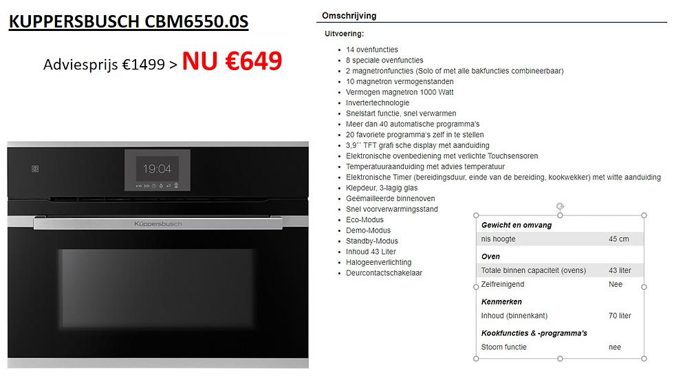 Oven   KUPPERSBUSCH   CBM6550.0S