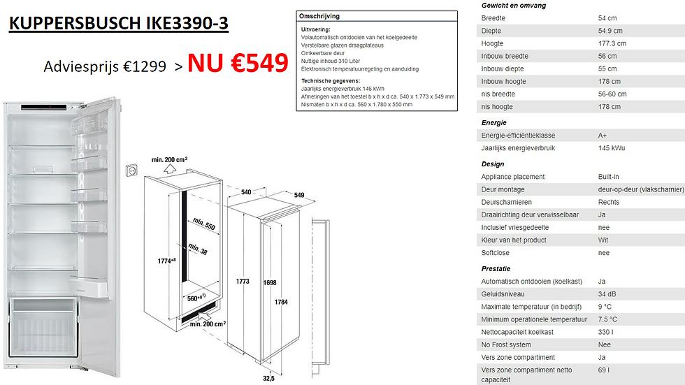Koelkast | KUPPERSBUSCH | IKE3390-3