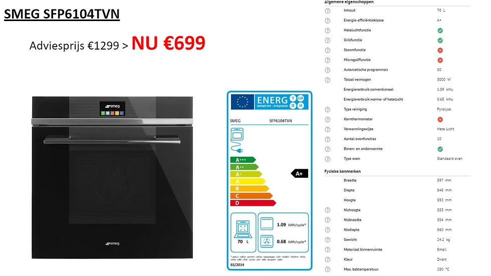 Hete lucht oven | SMEG | SFP6104TVN