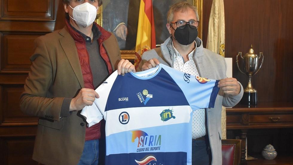 El Ayuntamiento de Soria y el Río Duero Soria rubrican su respaldo al voleibol